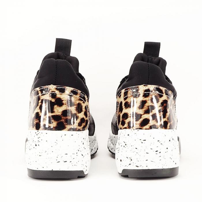 Sneakers negri cu talpa alba Limana 5
