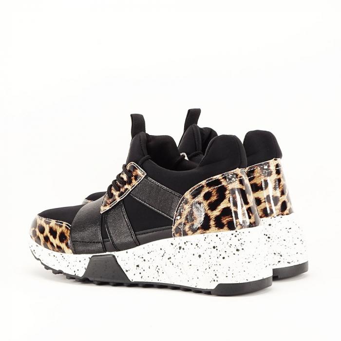Sneakers negri cu talpa alba Limana 4