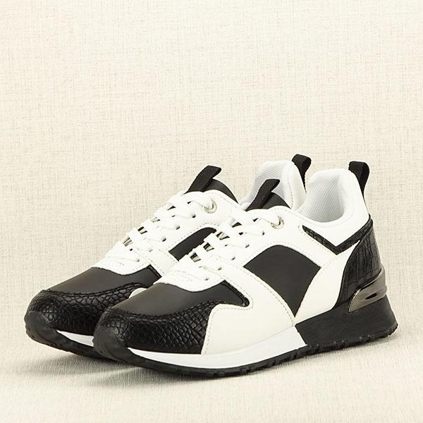 Sneakers alb cu negru Crista [2]