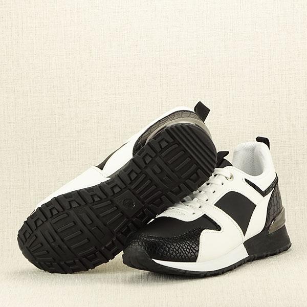 Sneakers alb cu negru Crista [7]