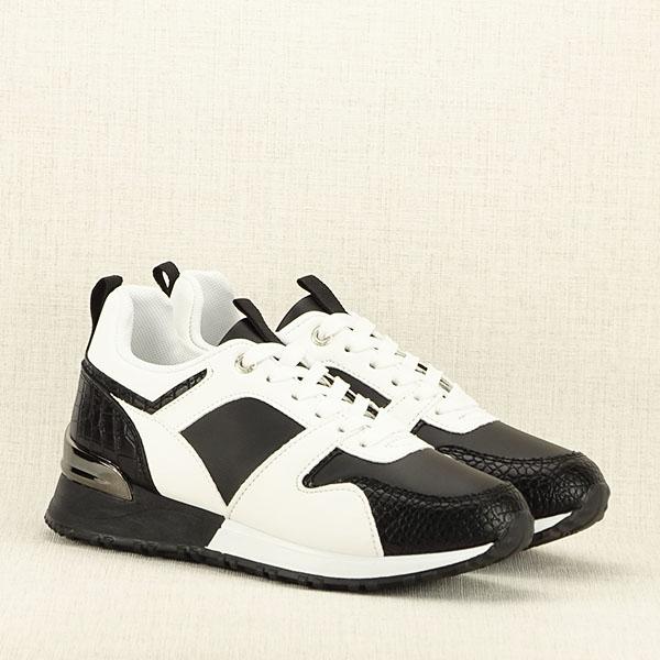 Sneakers alb cu negru Crista [3]
