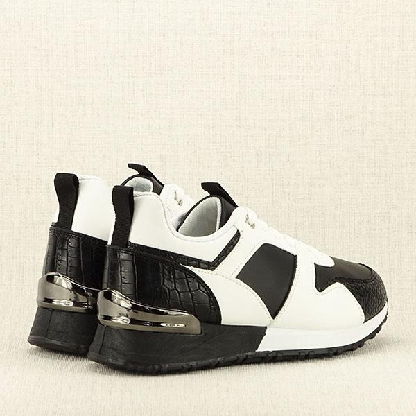Sneakers alb cu negru Crista [5]