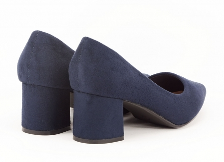 Pantofi bleumarin cu toc gros Boema2