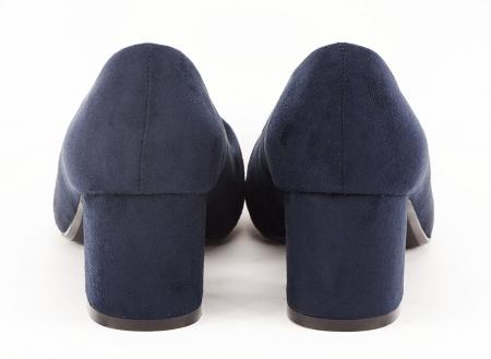 Pantofi bleumarin cu toc gros Boema5