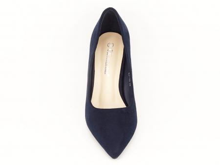 Pantofi bleumarin cu toc gros Boema4
