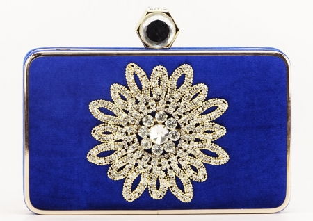 GEANTA CLUTCH ALBASTRA BEAUTY0