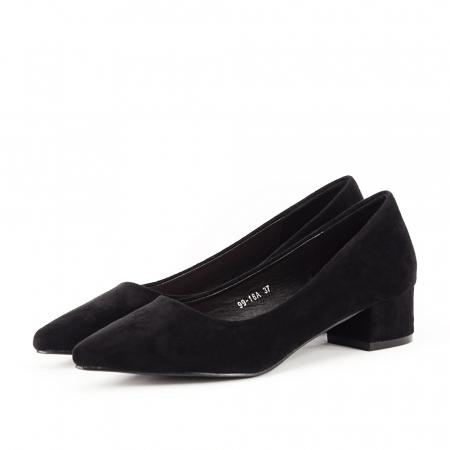 Pantofi negri cu toc mic Elisa1