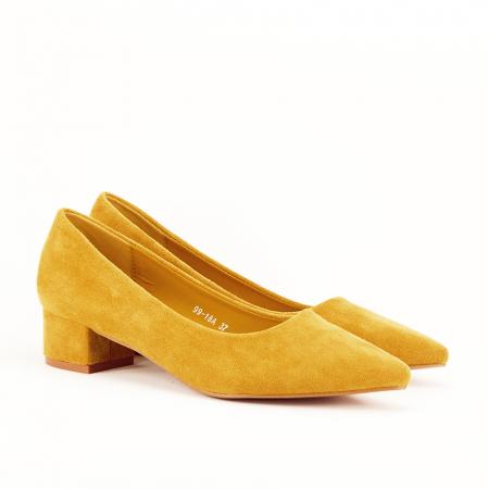 Pantofi galbeni cu toc mic Elisa [2]