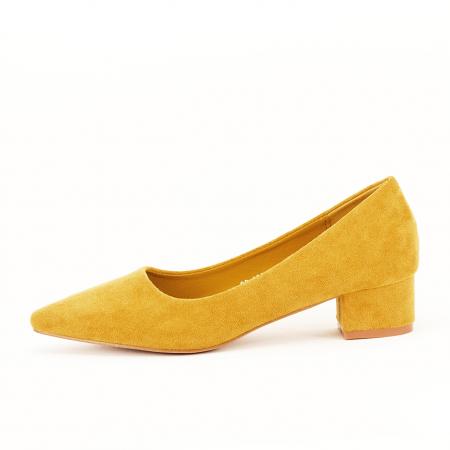 Pantofi galbeni cu toc mic Elisa [0]