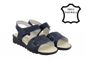 Sandale bleumarin din piele naturala Catis1