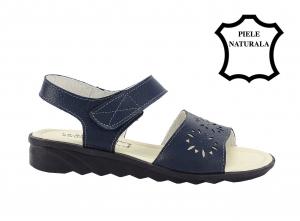 Sandale bleumarin din piele naturala Catis2