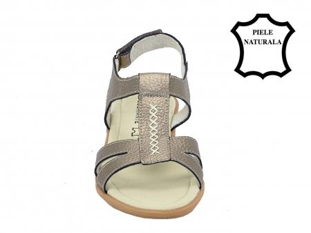 Sandale argint vechi din piele naturala Silvia4