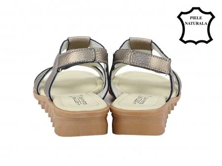Sandale argint vechi din piele naturala Silvia3