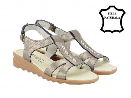 Sandale argint vechi din piele naturala Silvia2