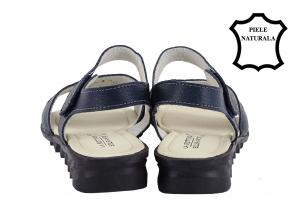 Sandale bleumarin din piele naturala Catis3
