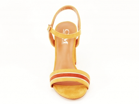 Sandale dama galbene cu toc gros Iris [5]