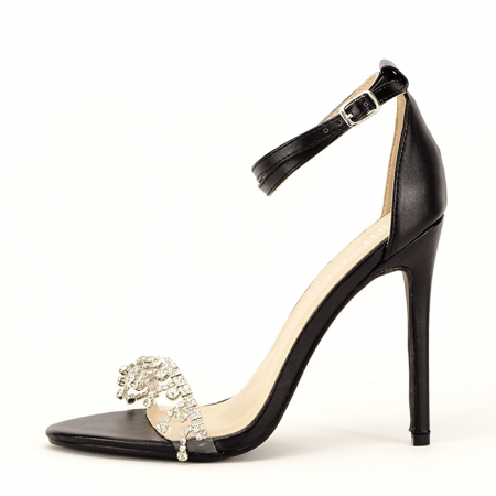 Sandale elegante negre Angelica0
