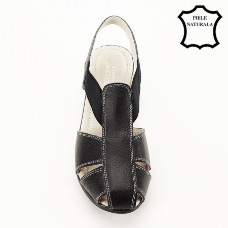 Sandale negre din piele naturala Codruta [3]