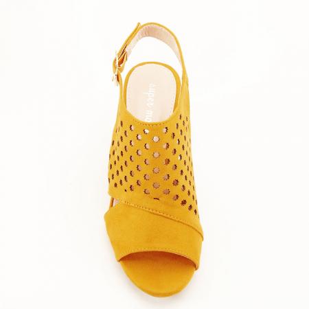 Sandale perforate galben mustar Penelope [7]