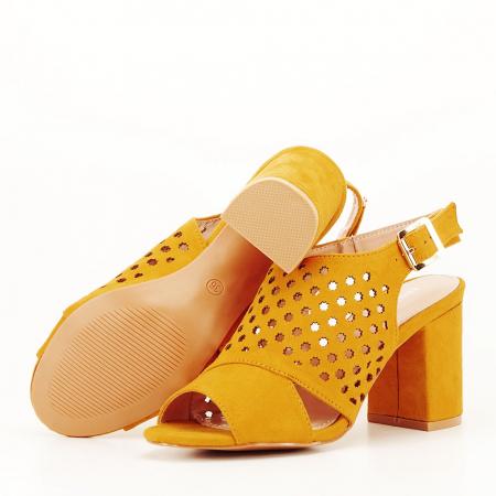 Sandale perforate galben mustar Penelope [6]
