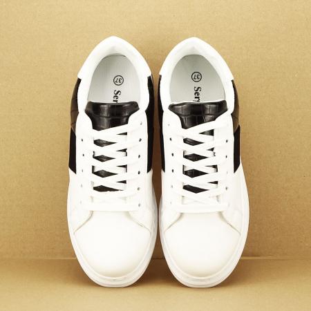 Sneakers alb cu negru Carise [2]