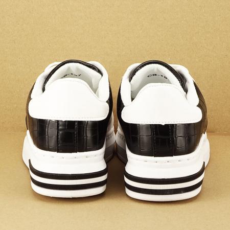 Sneakers alb cu negru Carise [6]