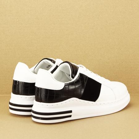 Sneakers alb cu negru Carise [5]