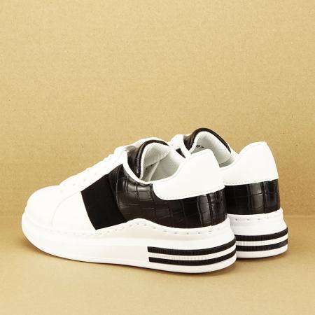 Sneakers alb cu negru Carise [7]