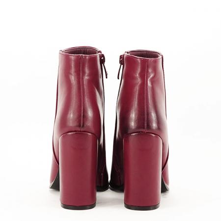 Botine elegante rosu inchis Mira6