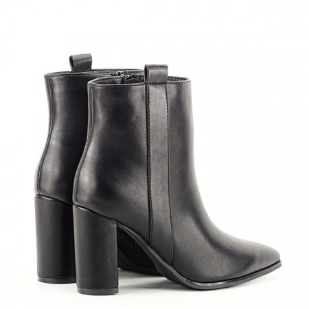 Botine negre office/casual Ginger4