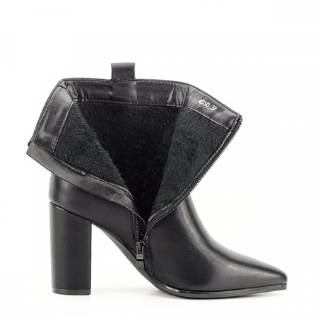 Botine negre office/casual Ginger7