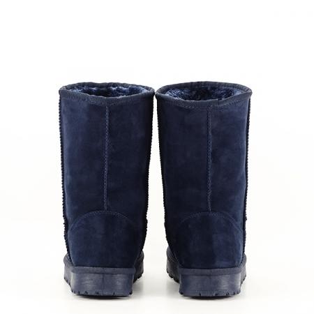 Cizme albastre din velur ecologic Blanca5