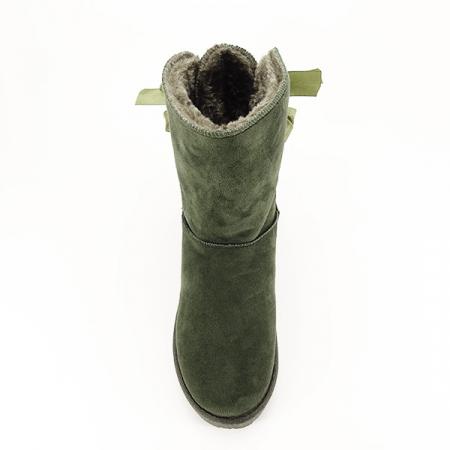 Cizme kaki cu fundita in spate Allegria [2]