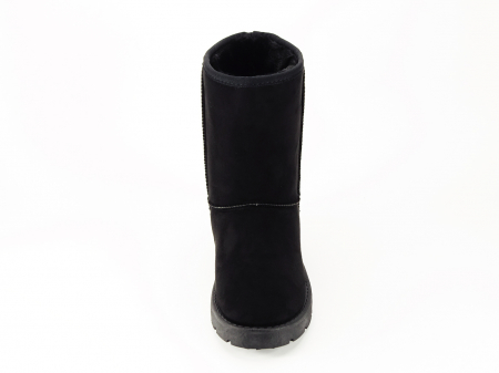 Cizme negre din piele ecolo tip UGG Lana [2]