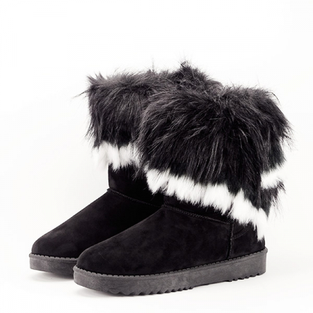 Cizme negre cu blanita Sorana0