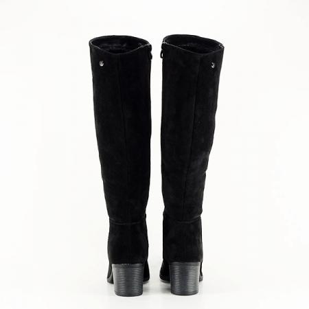 Cizme negre cu toc Roxana5