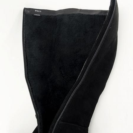 Cizme negre cu toc Roxana6