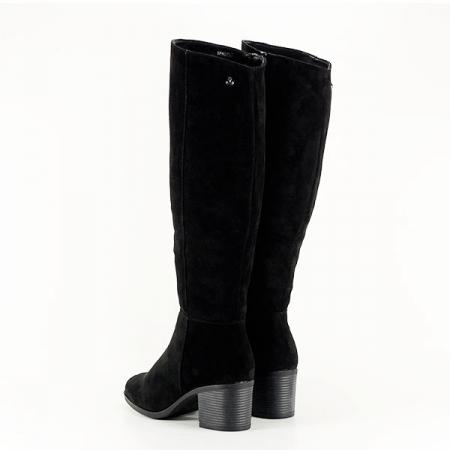 Cizme negre cu toc Roxana3
