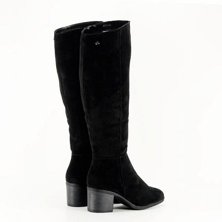 Cizme negre cu toc Roxana4