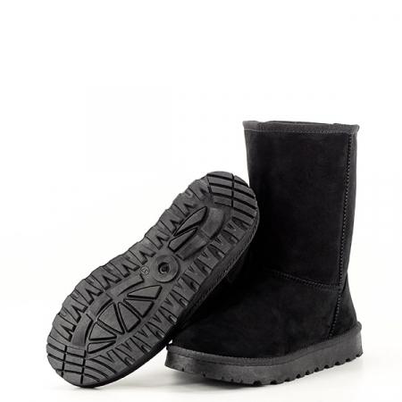 Cizme negre din velur ecologic Blanca7