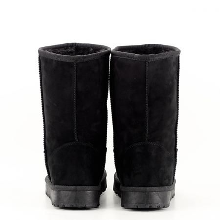 Cizme negre din velur ecologic Blanca5