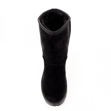 Cizme negre din velur ecologic Blanca6