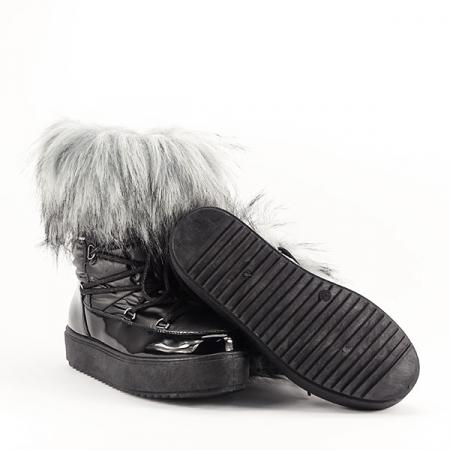 Cizme negre impermeabile imblanite Magda [2]