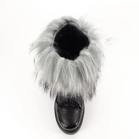 Cizme negre impermeabile imblanite Magda [5]