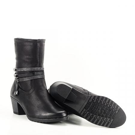 Cizme negre imblanite cu toc Maria8