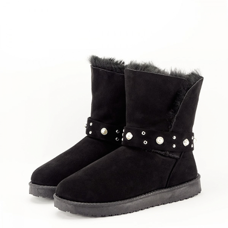 Cizme negre tip ugg Mia1
