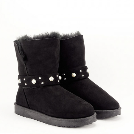 Cizme negre tip ugg Mia3