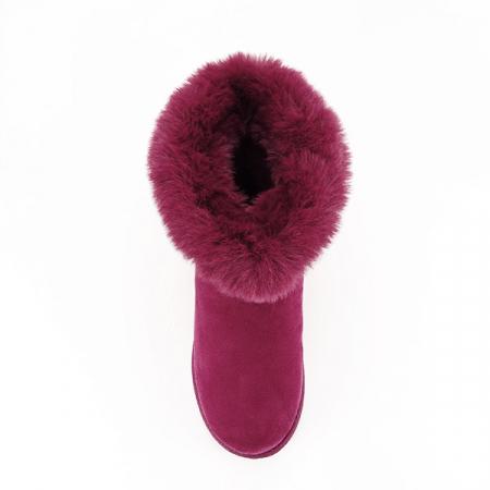 Cizme rosu inchis cu cristale Oana2