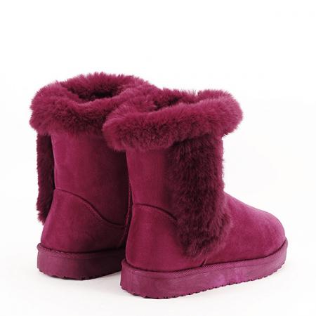 Cizme rosu inchis cu cristale Oana5