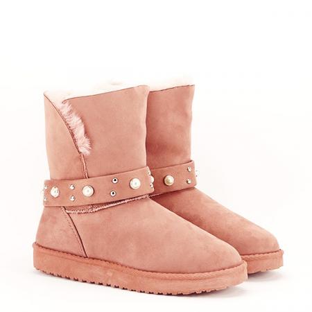 Cizme roz tip ugg Mia [3]
